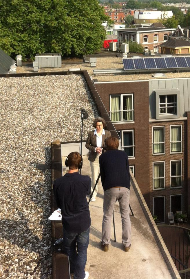 Researcher on the Roof