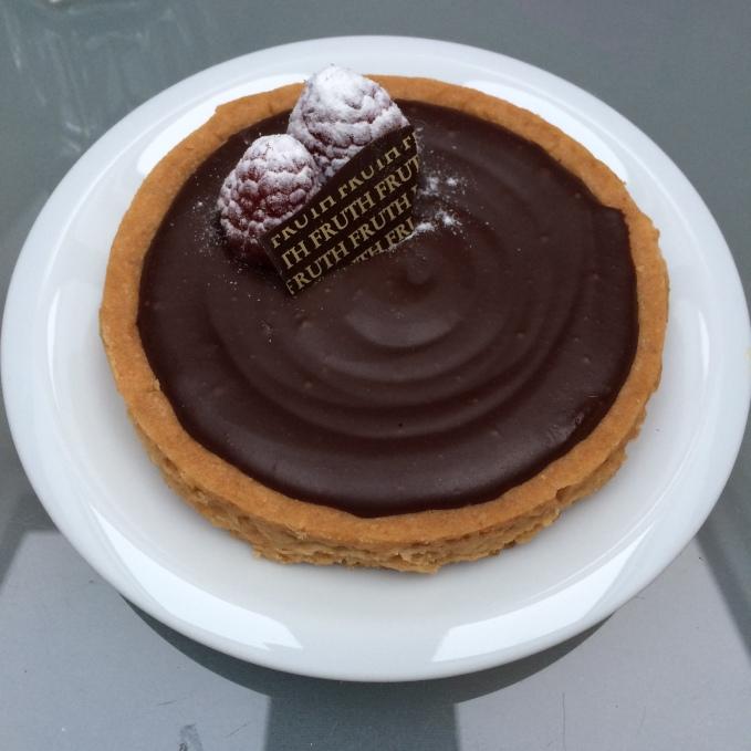 raspberry chocolate tart, Fruth