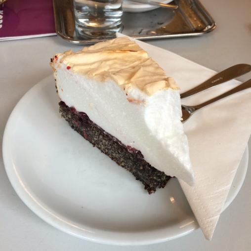 poppy seed pie with meringue
